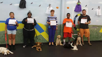 Pictures of Puppy Class Graduates